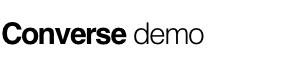 Converse demo Logo